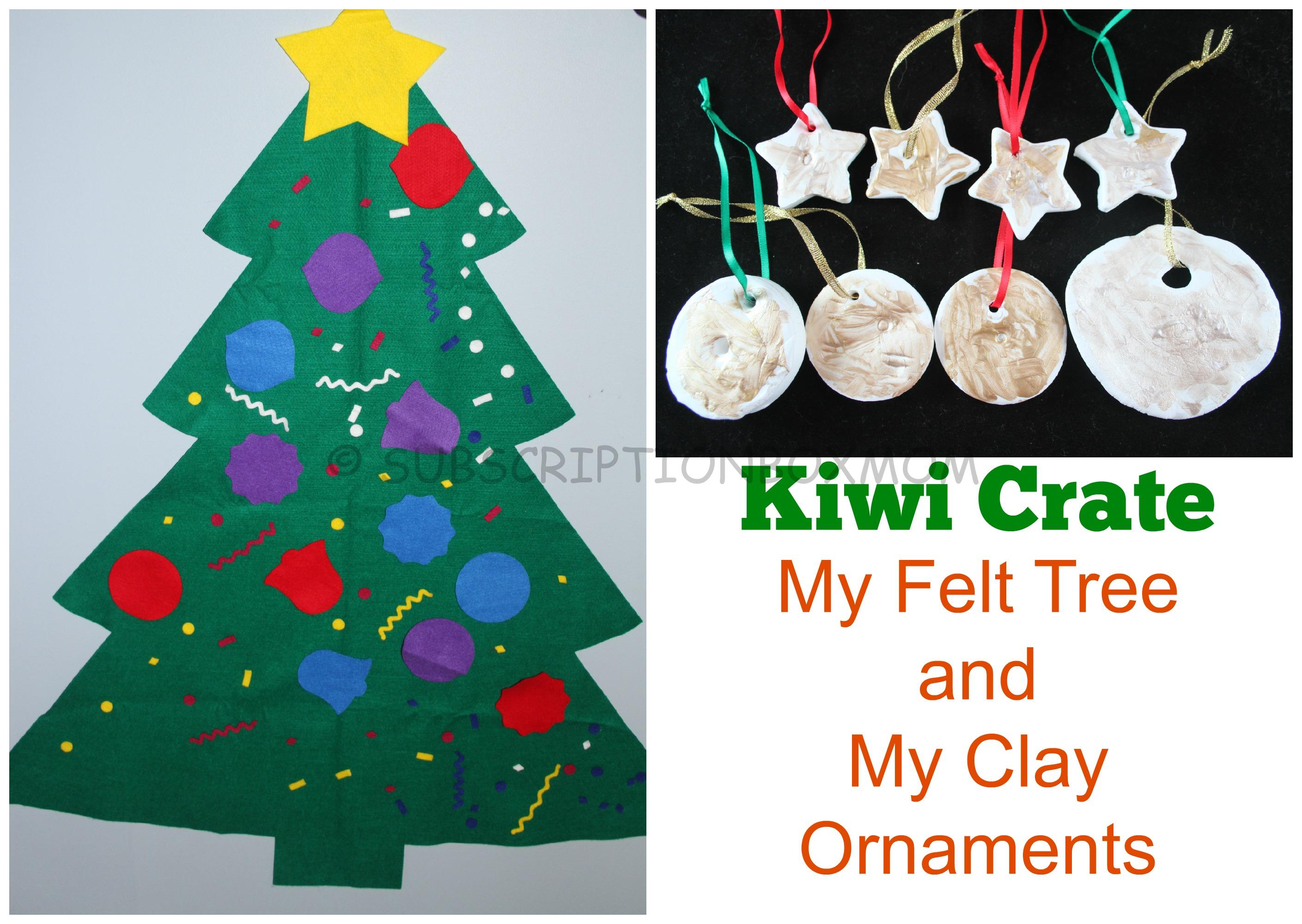 Kiwi Crate My Felt Tree + My Clay Ornaments