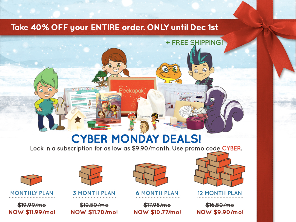 Peekapak Cyber Monday Coupon + Deal 2014