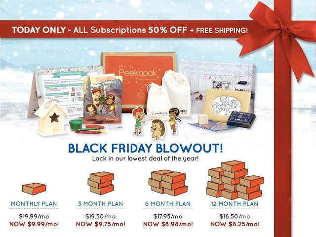 Peekapak Black Friday Coupon 2014