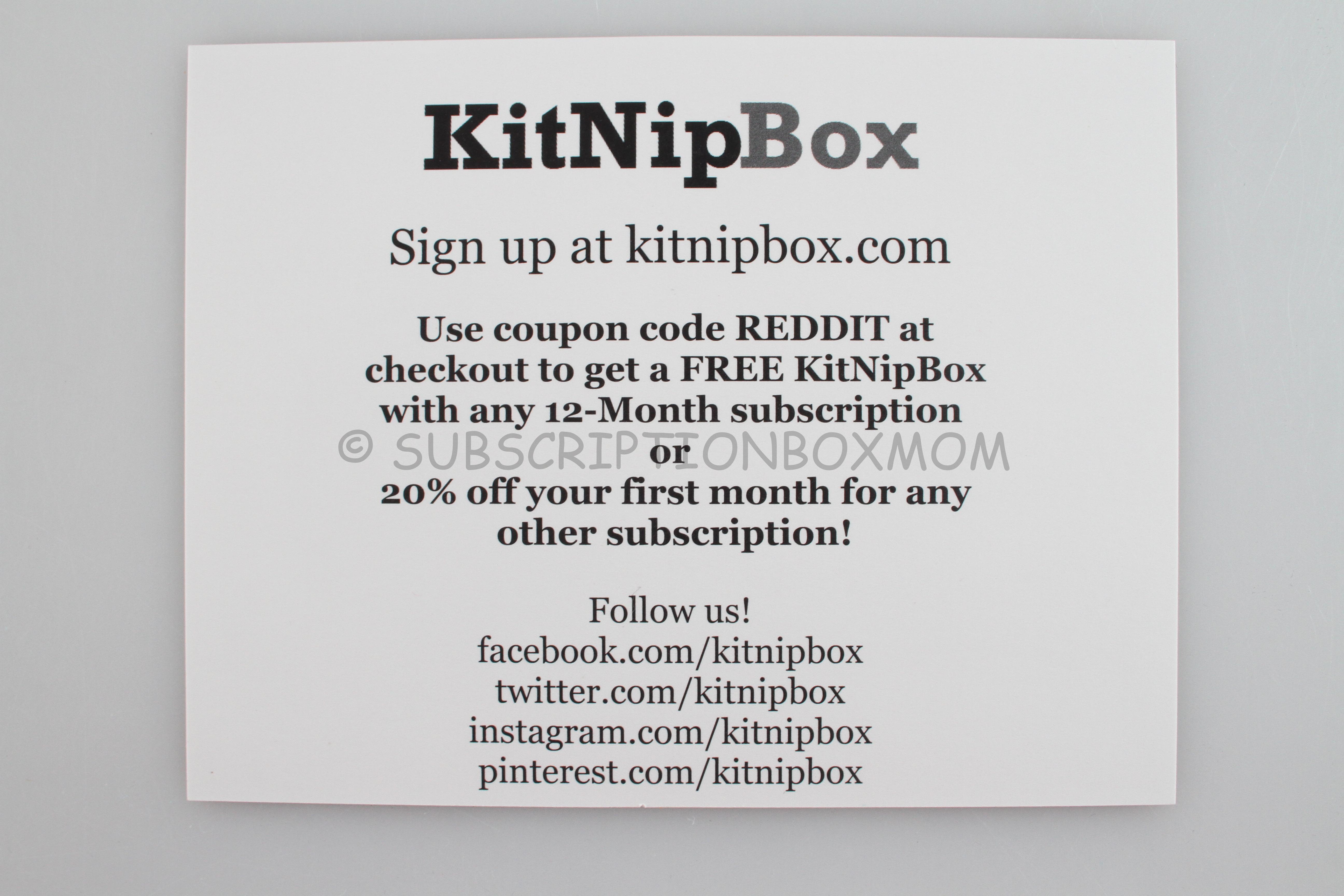 KitNipBox Special Edition on Reddit - Subscription Box Mom