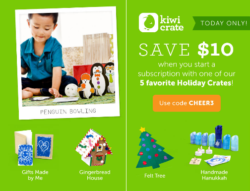 Kiwi Crate Day 3 of Cheer - Get $10.00 off a Subscription