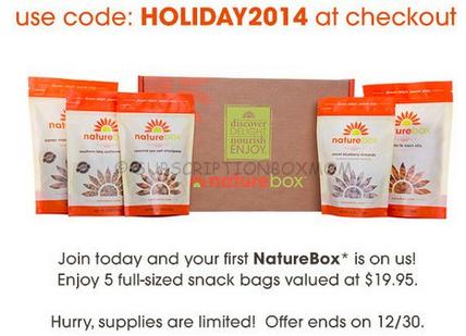 Free Naturebox Subscription Box