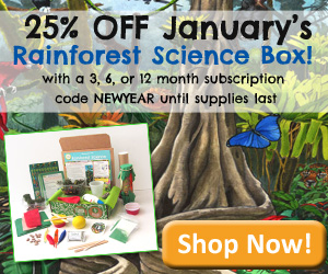 Green Kid Crafts 25% off Rainforest Science Discovery Box