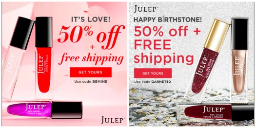 NEW FREE Julep Welcome Boxes with Subscription or 50% off Boxes