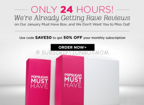 HALF OFF POPSUGAR Must Have Box - 24 Hours Only