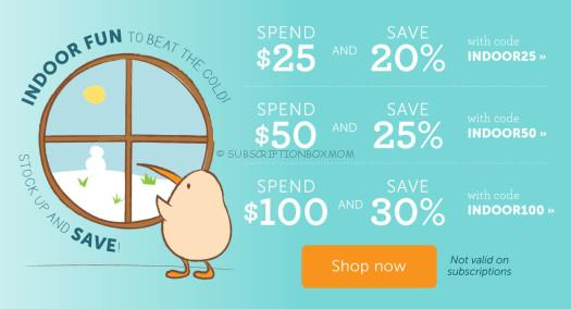 Kiwi Crate Store Coupons - Indoor Fun Sale - Save Up To 30%