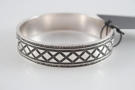 House of Harlow 1960 Shakti Engraved Bangle in Silver