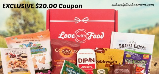 EXCLUSIVE Love with Food $20.00 Coupon + FREE Box
