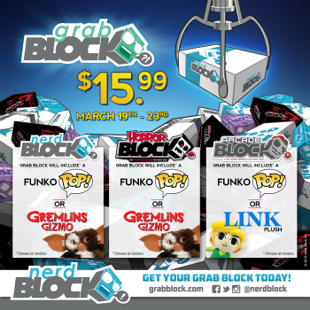 Nerd Block Grab Block Mystery Boxes - Arcade Block - Horror Block Also Available
