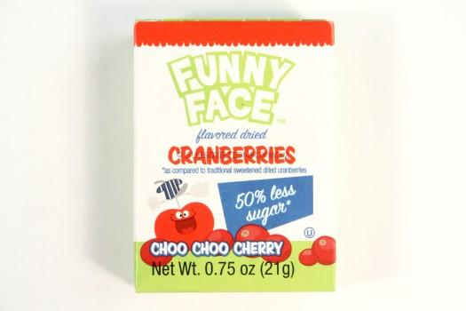 Funny Face Flavored Dried Cranberries in Choo Choo Cherry