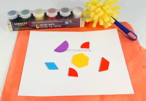 Sponge Paint Shapes (shape recognition)