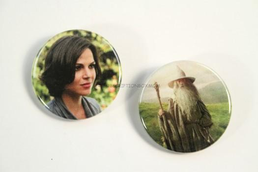 """Once Upon a Time"" and ""The Hobbit"" Buttons"