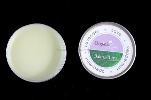 Organic Coconut Oil Lip Balm in Love