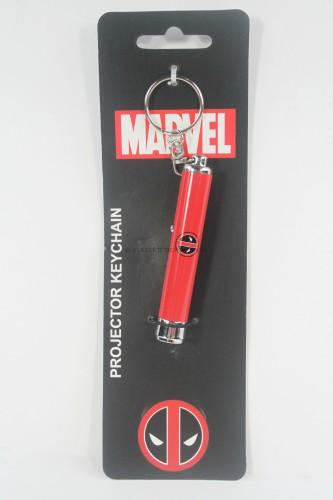 Marvel Comics Deadpool Logo Projector Flashlight Key Chain Key Ring