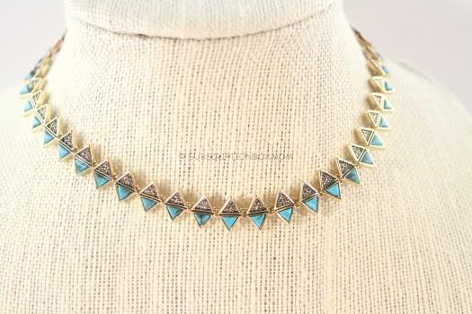 House of Harlow 1960 Ascension Collar Necklace in Turquoise
