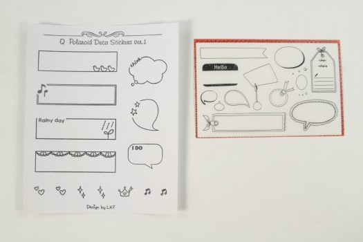 Word Bubble Stickers