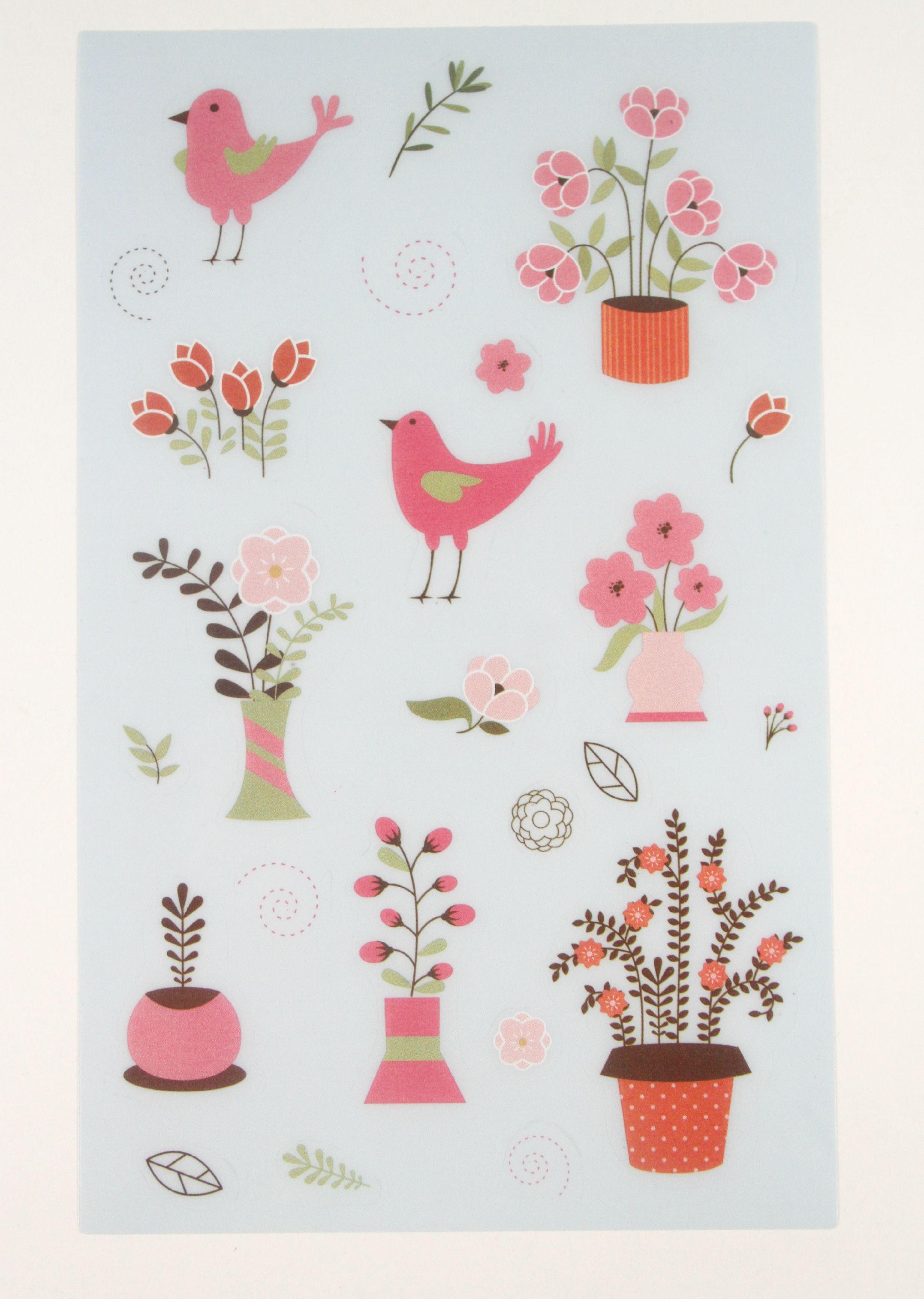 Flower and Garden Stickers: