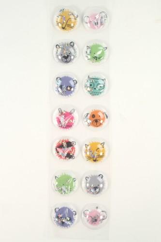Bubble Glitter Stickers