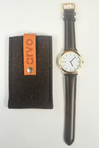 Arvo Watch White Time Sawyer Expresso Band
