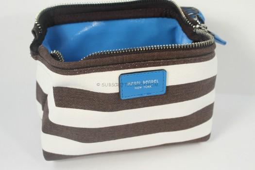 Henri Bendel Signature Strip Canvas Dopp Kit