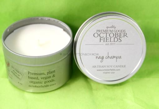 October Fields Nag Champa Candle Tin