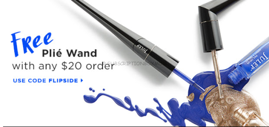 Free Julep Plie Wand (with Purchase) + Free Boxes