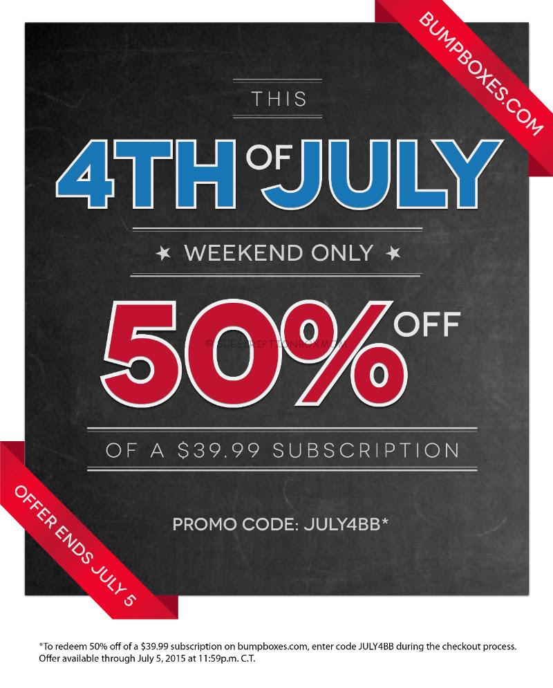 Bump Boxes 4th of July 50% Off Sale