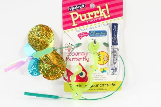 Vitakraft Purrk Playfuls Toys for Cats, Bouncy Butterfly