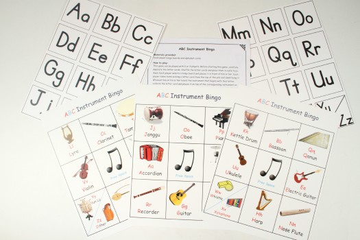 ABC Instrument Bingo