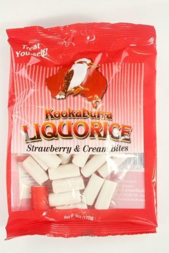 Kookaburra Liquorice Strawberry & Cream Bites
