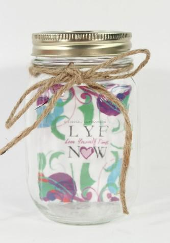 Affirmation Cards in a functional mason Jar