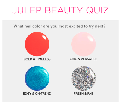 Free Julep Customized Welcome Box