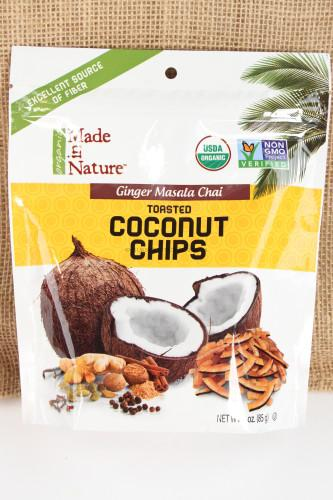 Made in Nature Ginger Masala Chai Toasted Coconut Chips