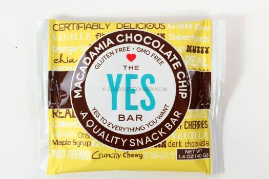 YES Bar Macademia Chocolate Chip Bar