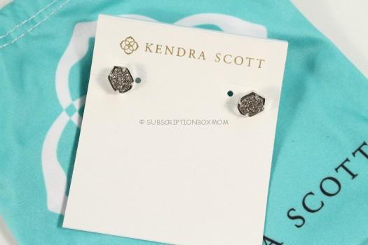 Kendra Scott Logan Silver Earring in Platinum Drusy