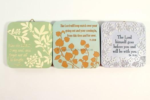 Bible Verse Set of Plaques