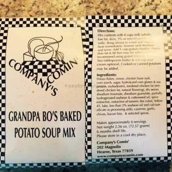 Grandpa Bo's Baked Potato Soup Mix