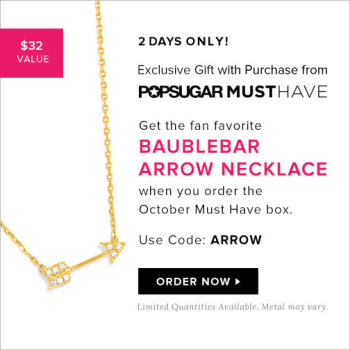 Free BaubleBar Necklace with Subscription of Popsugar