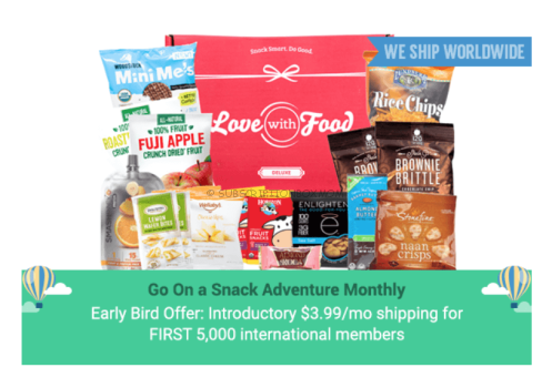 Love with Food Now Offers Worldwide Shipping