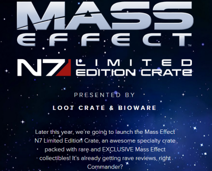 Loot Crate Mass Effect N7 Limited Edition Crate Coming Soon