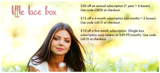 Little Lace Box Subscription Sale September 2015