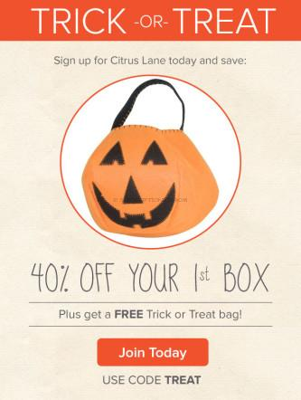 Citrus Lane FREE Trick or Treat Bag