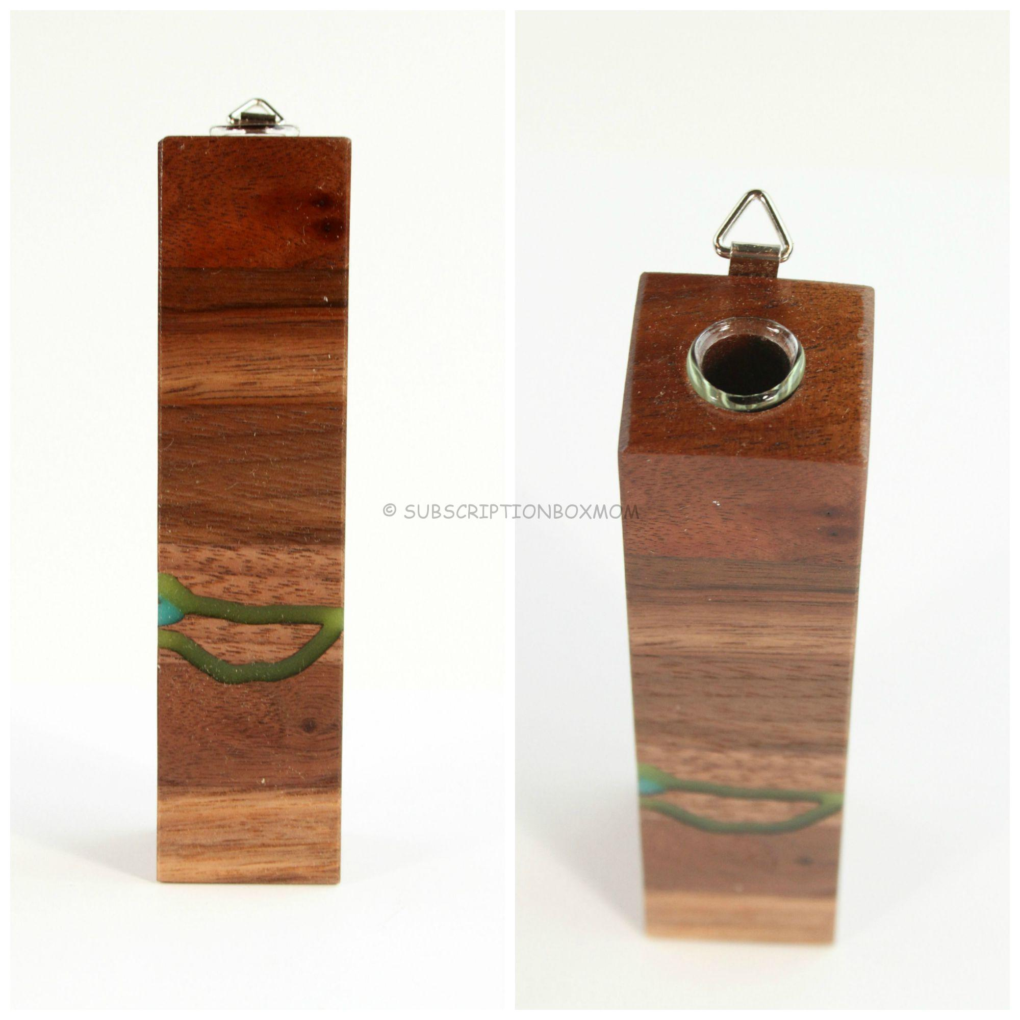 Petite Wall Vase in Box Style with Resin Inlay