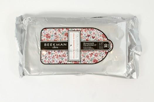 Beekman 1802 Honeyed Grapefruit Facial Cleansing Wipes