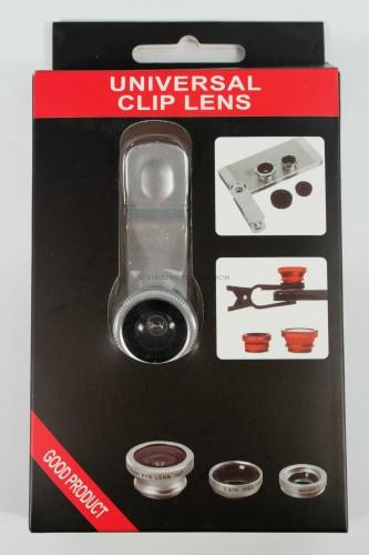 3-in-1 Clip-On Smartphone Camera Lens Kit