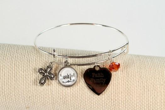 Thankful Charm Bracelet