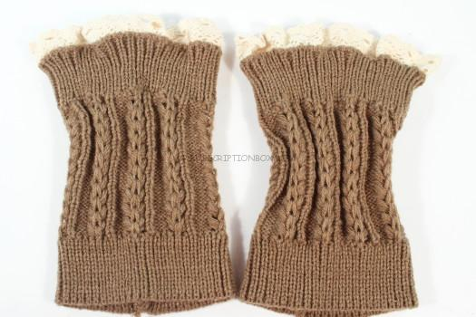 Three Bird Nest Lace Topped Boot Cuffs