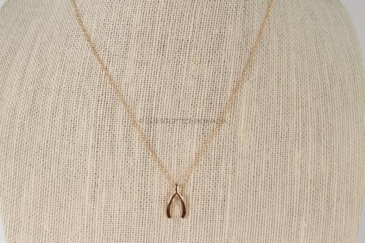 Ladybug Loft Wishbone Necklace