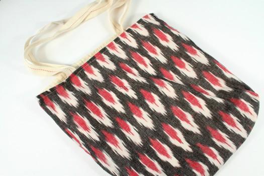 Hand Woven Ikat Fabric Tote Bag