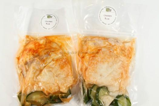 Chicken Rice Sriracha-Ginger Sauce, Cucumbers & Ginger Garlic Rice